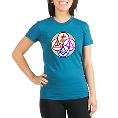 York Rite Organic Women's Fitted T-Shirt (dark)