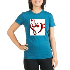 clefheart Organic Women's Fitted T-Shirt (dark)