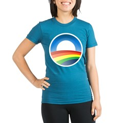 gayprideObamaO Organic Women's Fitted T-Shirt (dark)