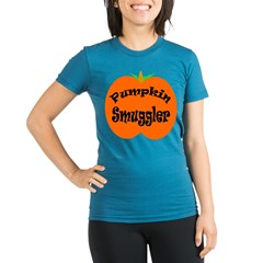 Pumpkin Smuggler Organic Women's Fitted T-Shirt (dark)