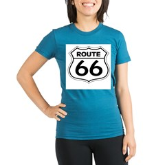 Route 66 Organic Women's Fitted T-Shirt (dark)