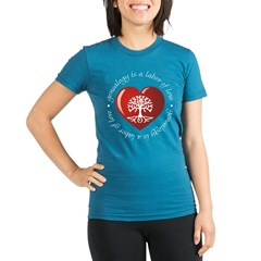 Labor Of Love Organic Women's Fitted T-Shirt (dark)