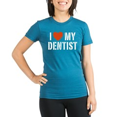 I Love My Dentis Organic Women's Fitted T-Shirt (dark)