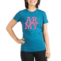 Army Girlfriend - Pink Organic Women's Fitted T-Shirt (dark)