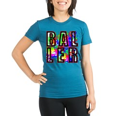 BALLERSPLATTER TRANSPARENT Organic Women's Fitted T-Shirt (dark)