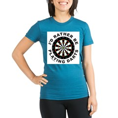 DARTBOARD/DARTS Organic Women's Fitted T-Shirt (dark)