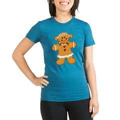 Gingerbread Woman Organic Women's Fitted T-Shirt (dark)