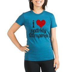 I love Sparkly Vampires Organic Women's Fitted T-Shirt (dark)