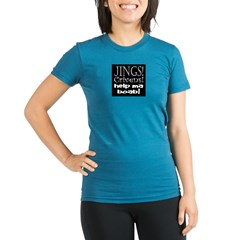JINGS! Organic Women's Fitted T-Shirt (dark)