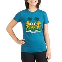 Sierra Leone Coat of Arms Organic Women's Fitted T-Shirt (dark)