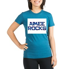 aimee rocks Organic Women's Fitted T-Shirt (dark)
