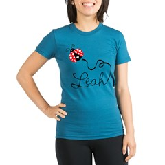 Ladybug Leah Organic Women's Fitted T-Shirt (dark)