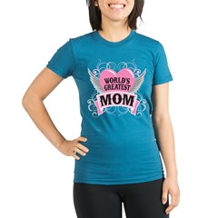 WorldGreatMom2 Organic Women's Fitted T-Shirt (dark)