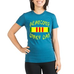 BeauCoup Dinky Dau Organic Women's Fitted T-Shirt (dark)