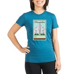 Travel Florida Organic Women's Fitted T-Shirt (dark)