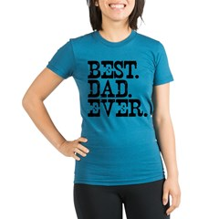 Best Dad Ever Organic Women's Fitted T-Shirt (dark)