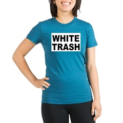WhiteTrash.jpg Organic Women's Fitted T-Shirt (dark)