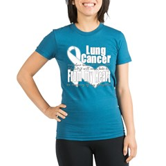 Daughter Lung Cancer Organic Women's Fitted T-Shirt (dark)