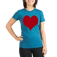 - Heart/Love Design Organic Women's Fitted T-Shirt (dark)