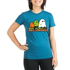 Baby Bump's 1st Halloween Organic Women's Fitted T-Shirt (dark)