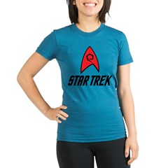 Star Trek Engineering Organic Women's Fitted T-Shirt (dark)