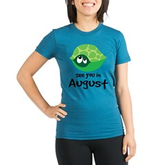 august turtle 2010 Organic Women's Fitted T-Shirt (dark)