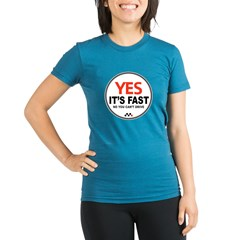 Yes It's Fas Organic Women's Fitted T-Shirt (dark)
