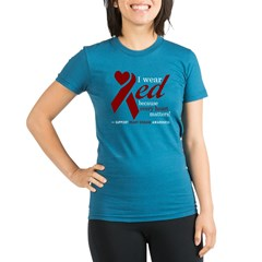 I Wear Red Organic Women's Fitted T-Shirt (dark)