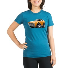 1968-69 AMX Orange Car Organic Women's Fitted T-Shirt (dark)