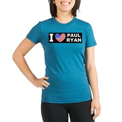 Paul Ryan I Love Organic Women's Fitted T-Shirt (dark)