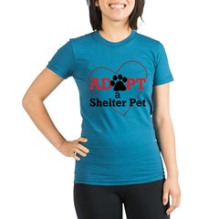 Adopt a Shelter Pet Womens PlusSz Scoop Neck Shirt Organic Women's Fitted T-Shirt (dark)