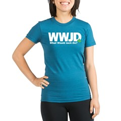 WWJackDo Organic Women's Fitted T-Shirt (dark)