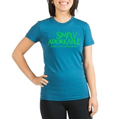 Adorkable Organic Women's Fitted T-Shirt (dark)