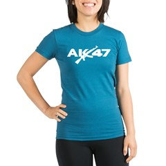 AK 47 Organic Women's Fitted T-Shirt (dark)