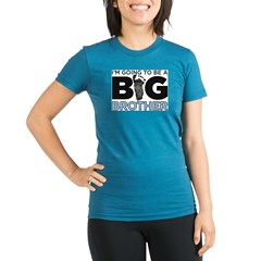 Im Going To Be A Big Brother Organic Women's Fitted T-Shirt (dark)