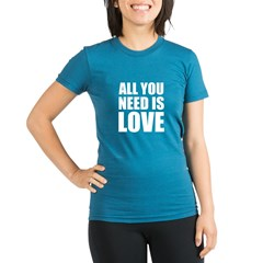 All You Need Is Love Organic Women's Fitted T-Shirt (dark)