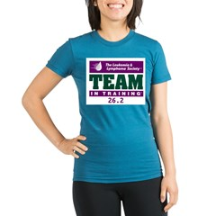 Team in Training - 26.2 Organic Women's Fitted T-Shirt (dark)