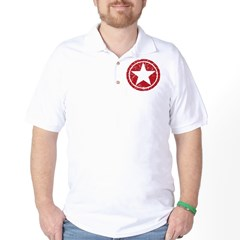 Red Circle Star black shirt Golf Shirt