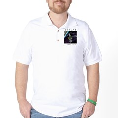 Shrox Space Art Skylab Golf Shirt