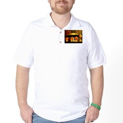 Unique Poker Art Rising Suits Golf Shirt