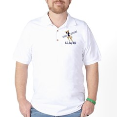 Navy Wife Pinup Golf Shirt