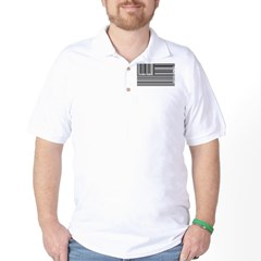 barcode flag Golf Shirt