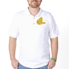 Yellow Butterfly Golf Shirt