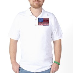PLEDGE OF ALLEGIANCE FLAG Golf Shirt