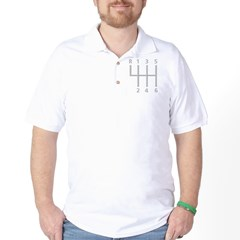 2-Stick Shift 6 Speed.psd Golf Shirt