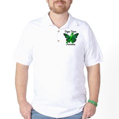 I Wear Green Gift of Life Golf Shirt