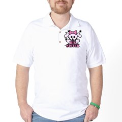 Pink bow skull big sister Golf Shirt