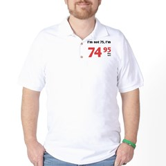 Funny Tax 75th Birthday Golf Shirt