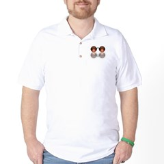round glasses blk Golf Shirt