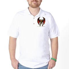 Mothman Sketch-Brown Golf Shirt